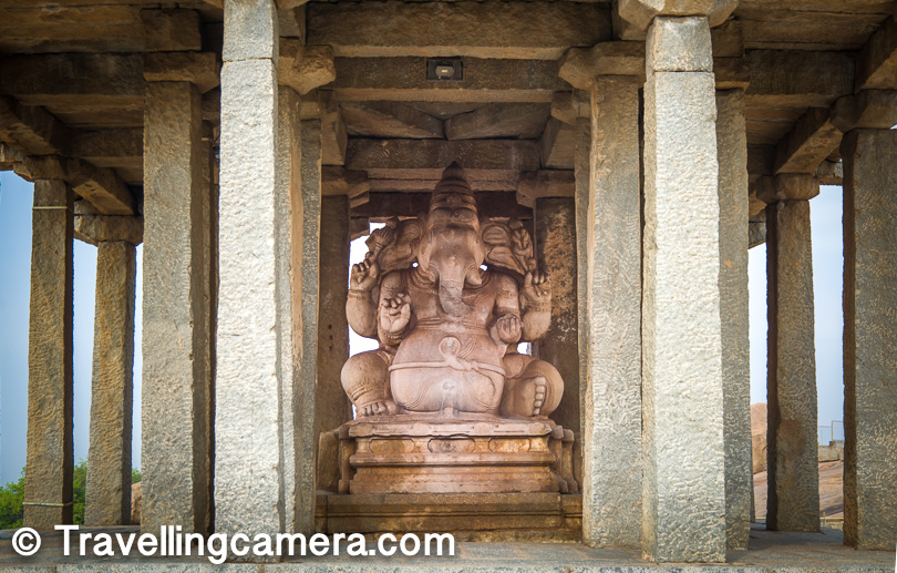 Sasivekalu Ganesha Temple : Most of these places around close to each other. Like Sasivekalu Ganesha Temple is pretty close to Virupaktha Temple. There is a hill between Virupaksha Temple and Sasivekalu Ganesha Temple. And there are plenty of interesting sites to get photographs clicked.