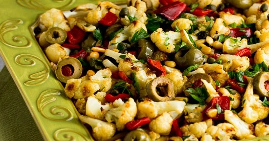 Kalyn's Kitchen®: Roasted Christmas Cauliflower with Red ...