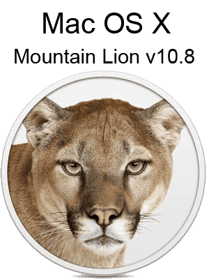Mac OS X Mountain Lion v10.8 box
