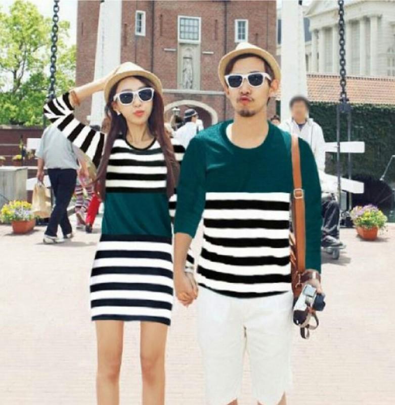 Jual Dress Couple Salur Combi Tosca - 24308