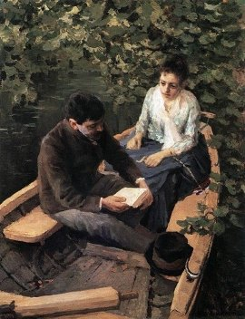 Подборка живописи Дамы в лодках