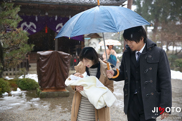 近江八幡市の奥石神社のお宮参り出張撮影