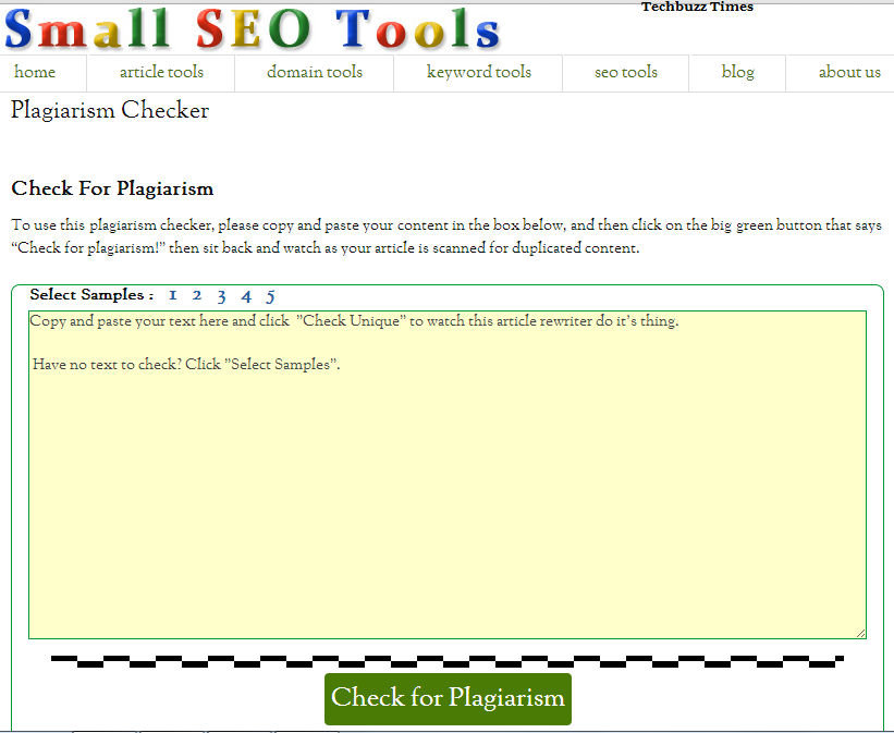 Check For Plagiarism | Smart seo Tool to Check Duplicate Content Online