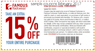 free Famous Footwear coupons for february 2017