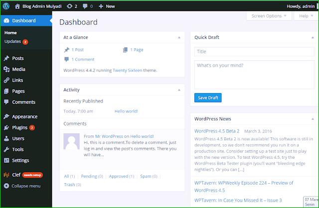 Panduan Cara Instalasi Script/Platform Wordpress.org, menggunakan CPanel Hosting ID Hostinger