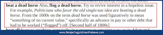 Arti Beat a Dead Horse