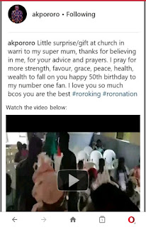Akpororo Surprises Mum With Brand New Car in Church.