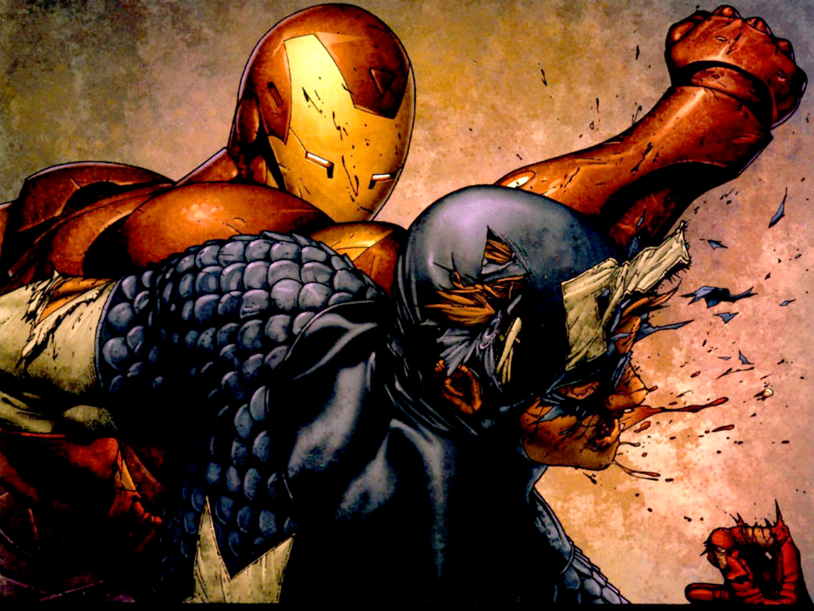 Iron Man Vs Captain America Comics Hd Wallpaper Cartoon Wallpapers