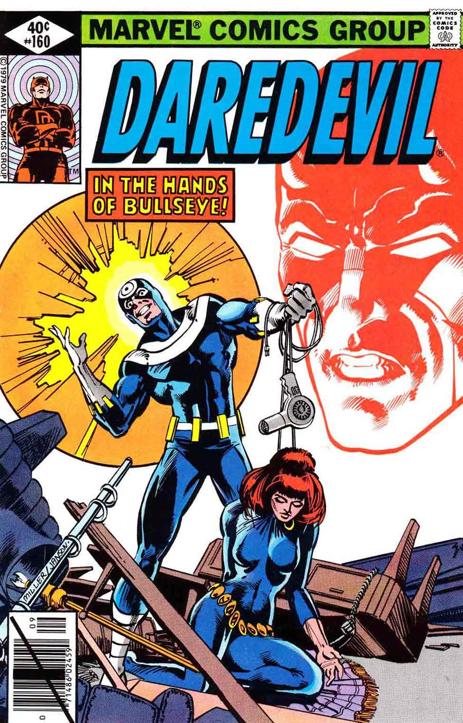 Daredevil v1 #160 bullseye marvel comic book cover art by Frank Miller
