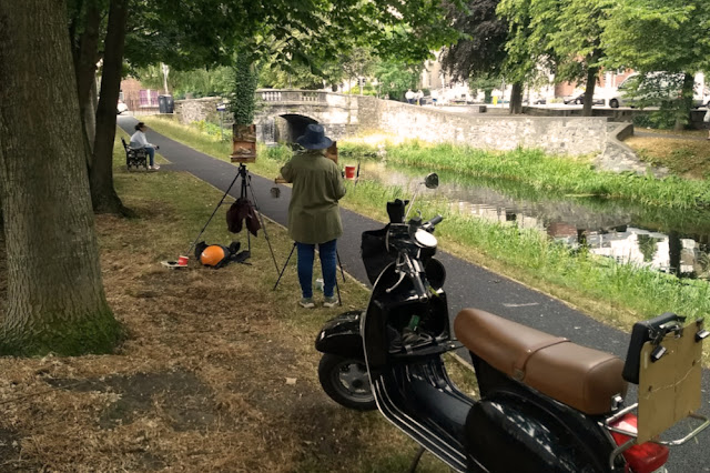 Kevin McSherry summer schedule en plein air art class, painting at the Huband Bridge in Dublin. July 2018