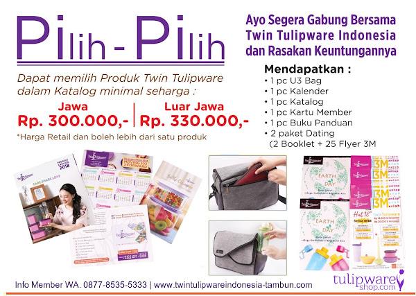 Harga Baru Paket Member Tulipware 2018, PiPi, Kitbag, Starter Kit