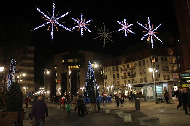 plaza Bide Onera en Navidad