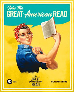 Join the Great American Read -- We can do it woman poster -- # Great Read P B S