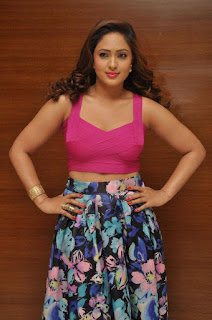 Actress Nikesha Patel Latest Stills in Floral Skirt at Araku Road Lo Teaser Launch 0008