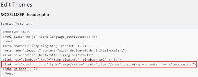 HTML Favicon Code