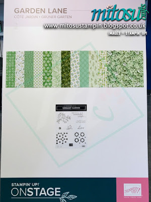 Garden Lane Suite NEW Stampin' Up! Products #onstage2019 Display Board from Mitosu Crafts UK