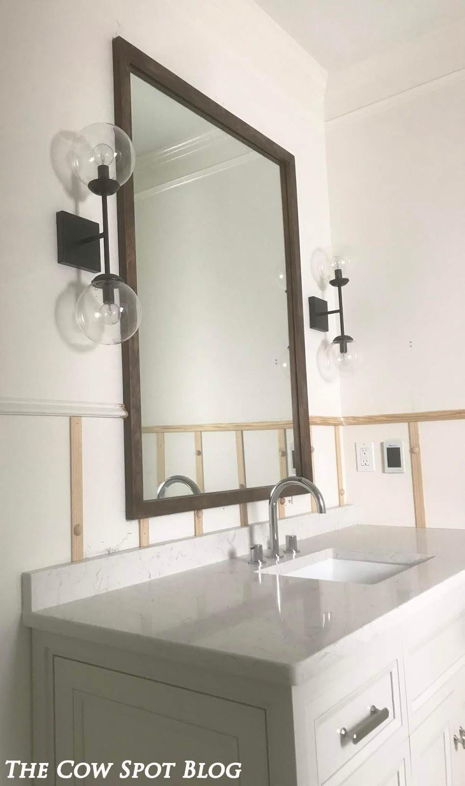 The Cow Spot: Cabinetry & Trim - Croix\'s Bath Part 4