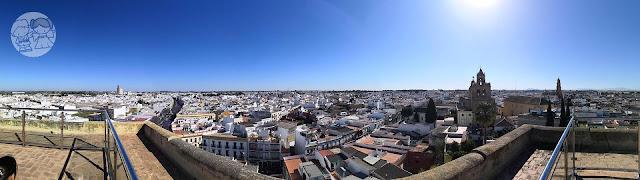 Panorámica de Utrera, desde la alto del Castillo.