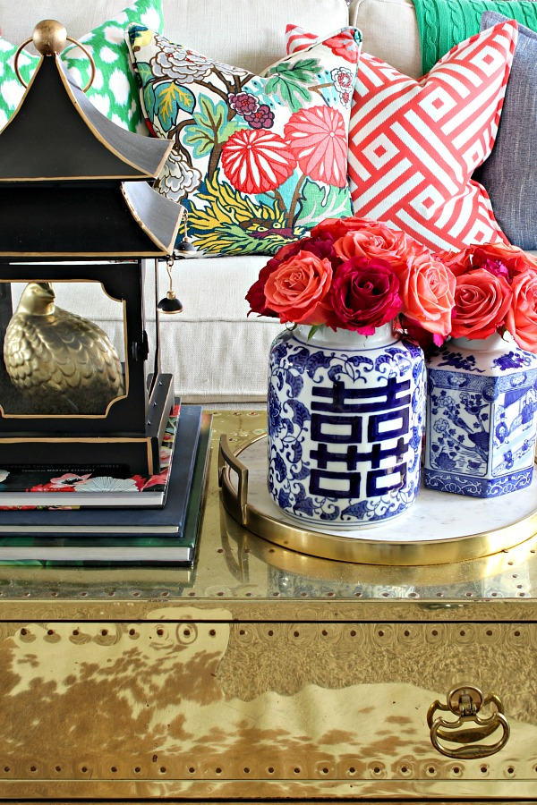 chiang mai dragon, coffee table styling, pagoda lantern