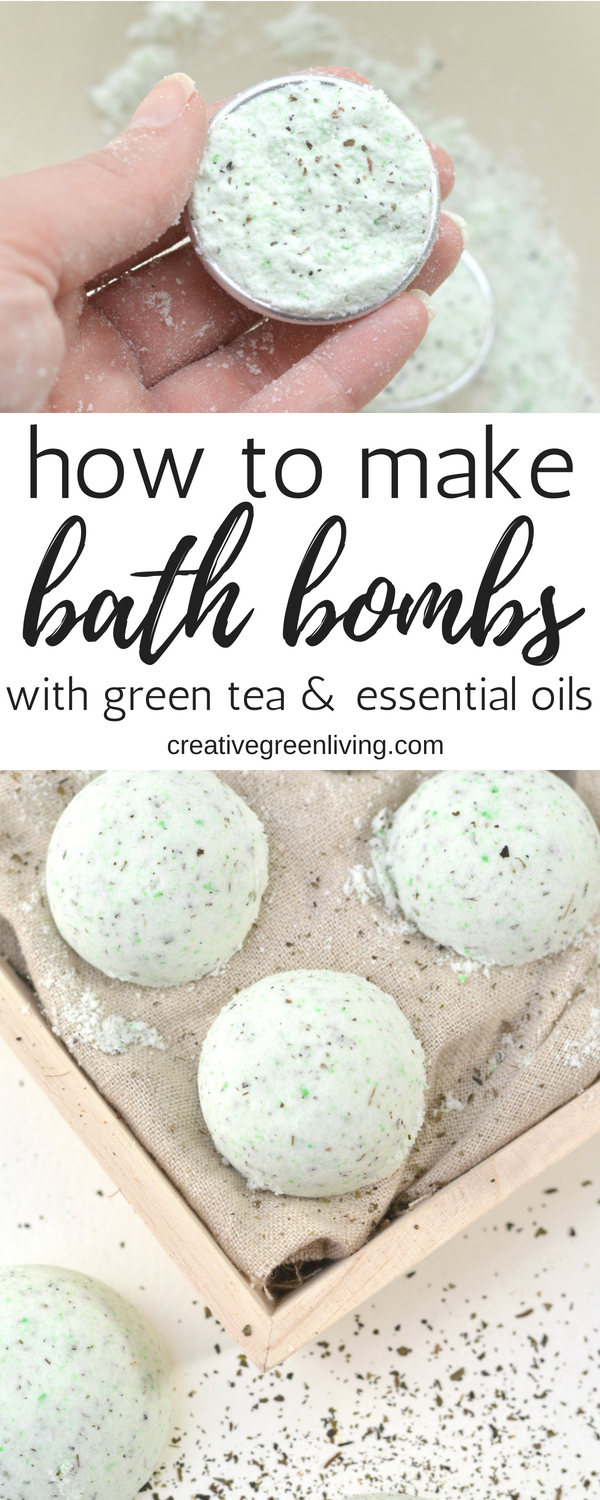 How to make DIY Lush copycat bath bombs at home. This recipe is a super easy way to learn how to make homemade bath bombs with lavender and lemongrass essential oils along with green tea. All the ingredients are natural - no artificial scents or preservatives!