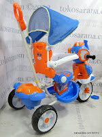 5 Sepeda Roda Tiga Wimcycle Elephant dengan Musik dan Kanopi