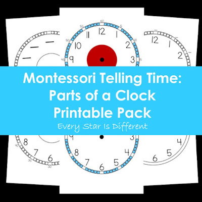 Montessori Telling Time: Parts of a Clock Printable Pack