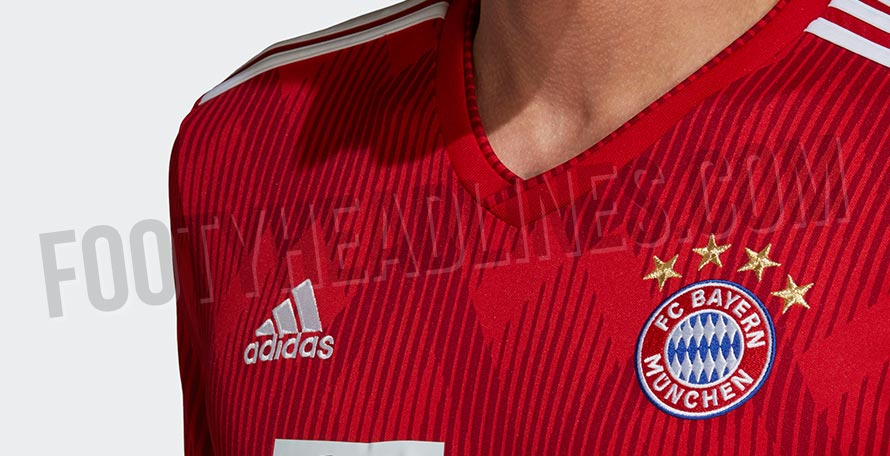 f9bfa1c7 Made by long-term Bayern jersey supplier Adidas, the new Bayern Munich 18-19  kit stands out with its dark blue shorts.