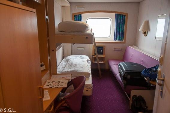 Camarote del Hurtigruten, de crucero por el litoral noruego