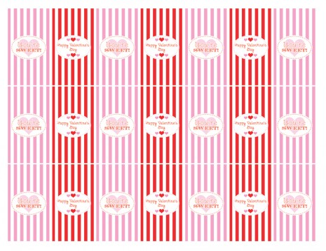 Poshed up 10 days of valentine 39 s day day 8 for Valentine candy bar wrapper templates
