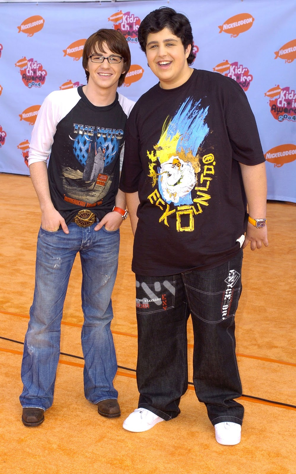 Nickalive july 2017 drake bell and josh peck on the nickelodeon kids choice awards 2004 orange carpet sgranitzwireimage kristyandbryce Images