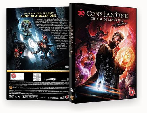 CAPA DVD – CONSTANTINE – CIDADE DE DEMÔNIOS – O FILME DVD-R