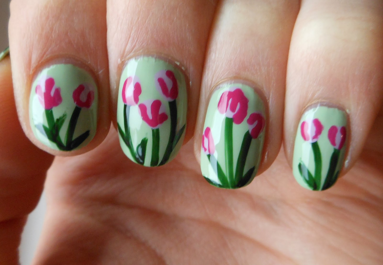 Holy Grail Nails How To Easy Spring Tulip Nails