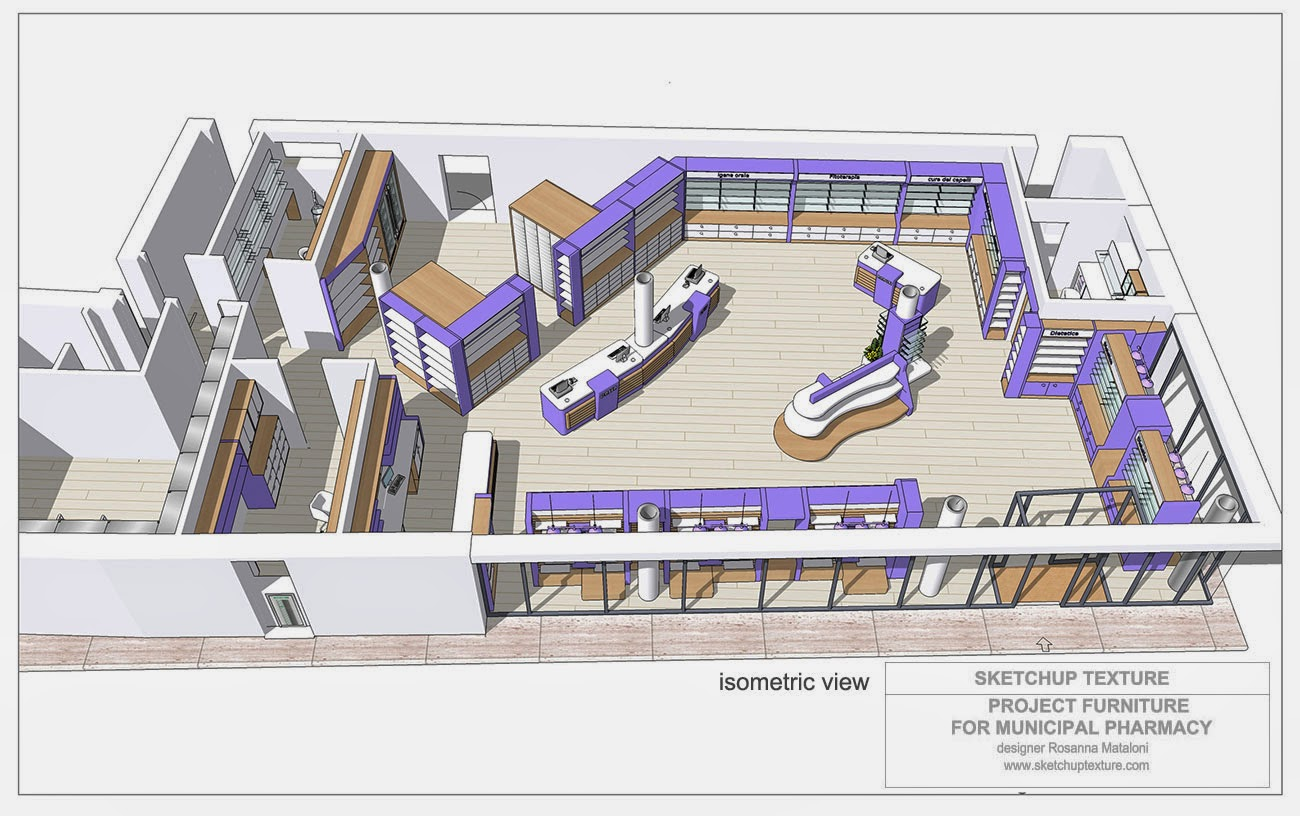 HOW TO DESIGN A MODERN PHARMACY 3D SKETCHUP MODEL