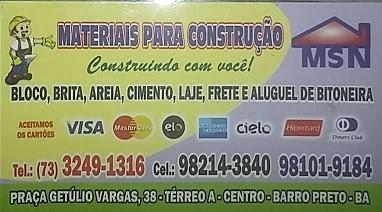 MSN MATERIAL DE CONSTRUÇÃO
