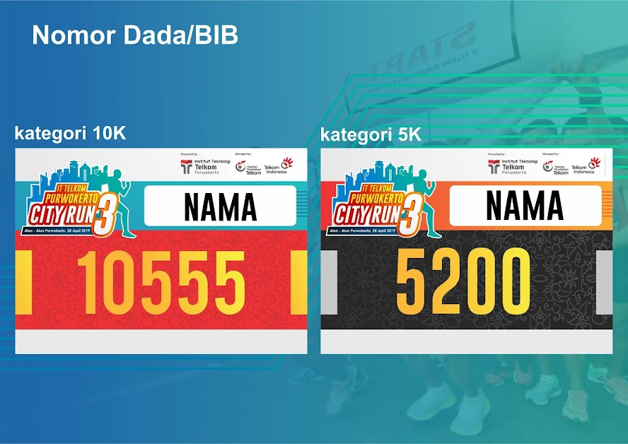 bib IT Telkom Purwokerto City Run 3 2019
