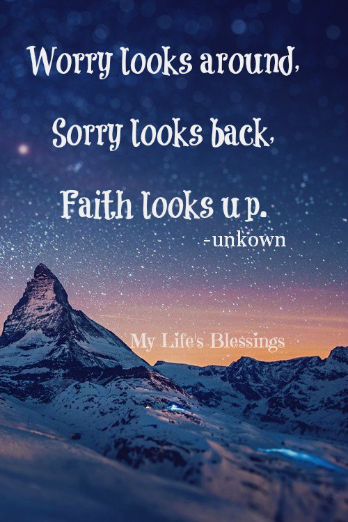 faith looks up