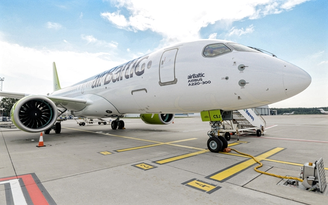 airbaltic a220-300 hand over ceremony