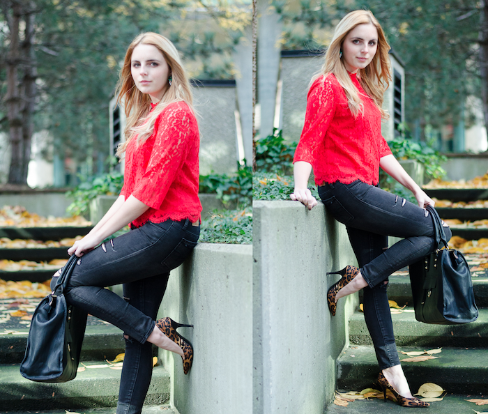 How to Style Red Lace, Winter Outfits, Holiday Style