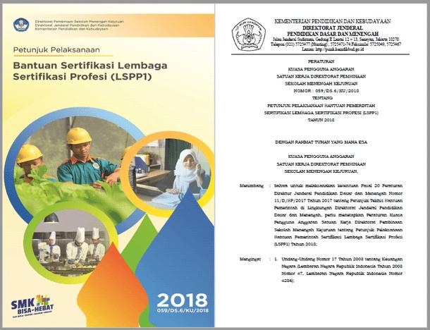 Juklak Bantuan Sertifikasi Lembaga Sertifikasi Profesi (LSP P1) SMK Tahun 2018