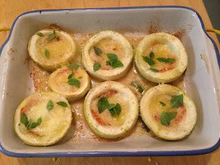 Calabacines con mozzarella gratinados, preparación 7