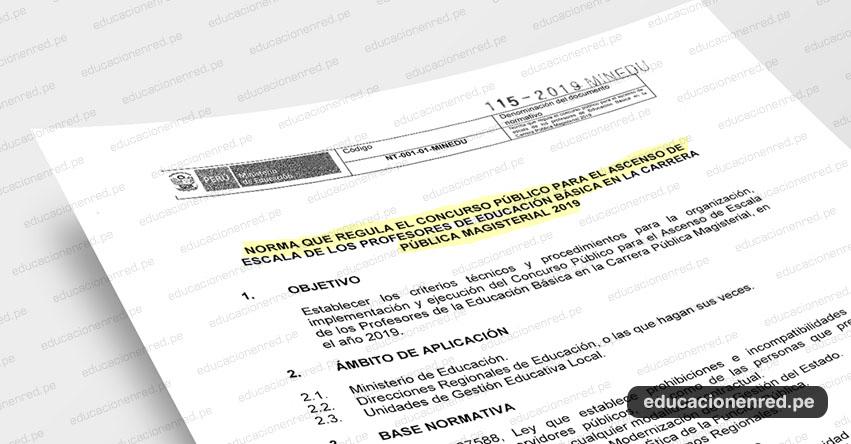 MINEDU publicó Anexos de la Directiva para el Ascenso de Escala Magisterial 2019 (R. VM. N° 115-2019-MINEDU) www.minedu.gob.pe
