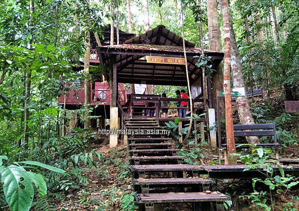 The Canopy Walk station in Taman Negara National Park & Canopy Walk in Taman Negara - Malaysia Asia