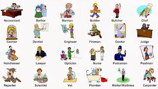 profesi bahasa inggris dan cara bacanya