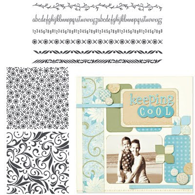 backgrounds and borders stamp set ctmh