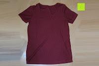 innen hinten: Lands' End - Baumwoll/Viskose-Shirt mit V-Ausschnitt
