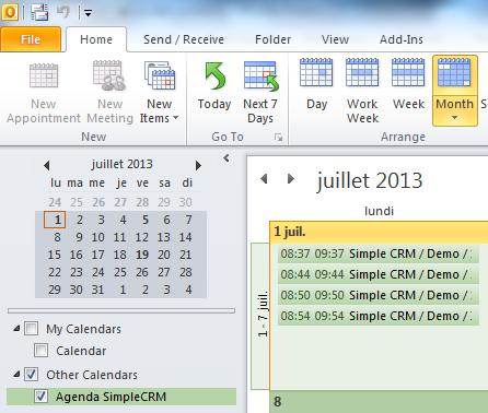 Synchroniser Calendrier Outlook Avec Iphone.Comment Utiliser Simple Crm Comment Synchroniser Outlook