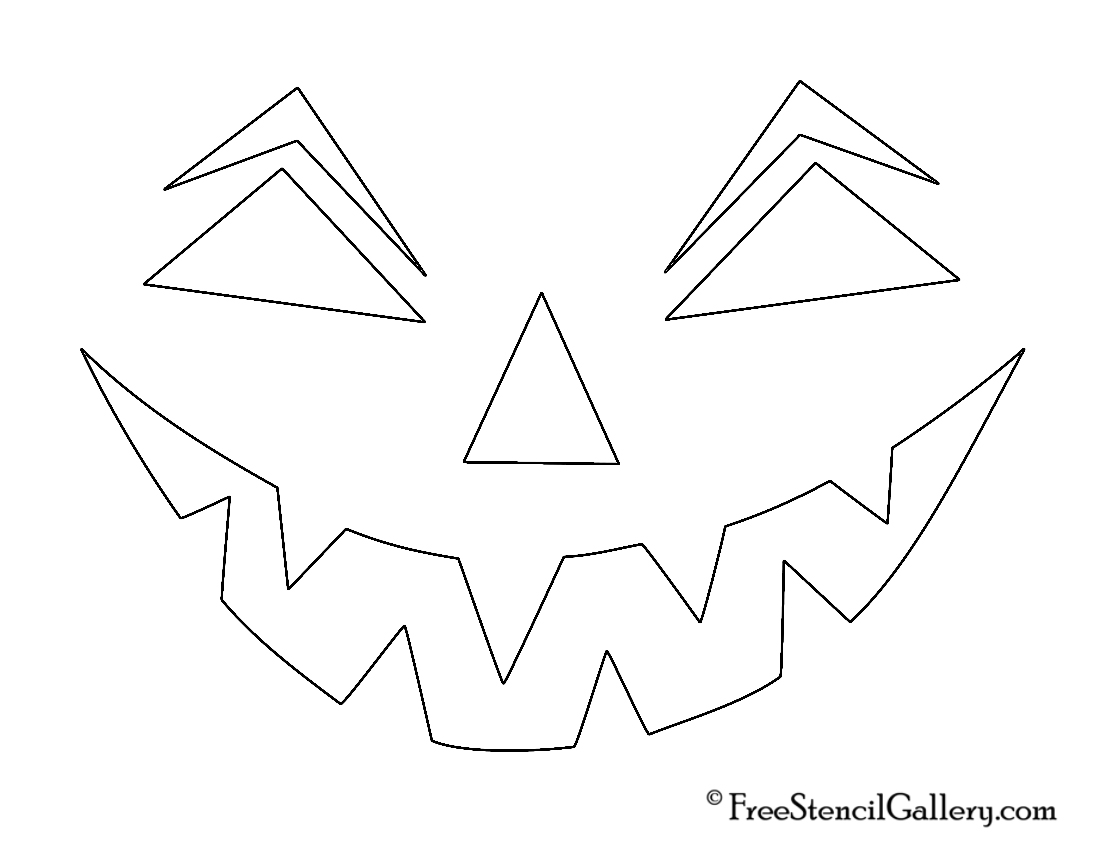 Free Printable easy funny jack o lantern face stencils patterns ...