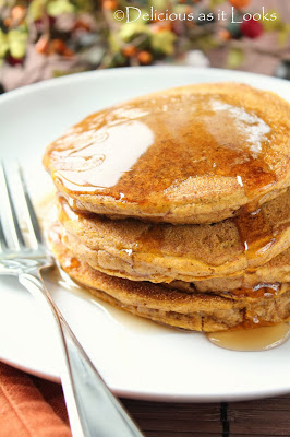 Gluten-Free Pumpkin Pancakes  |  Delicious as it Looks