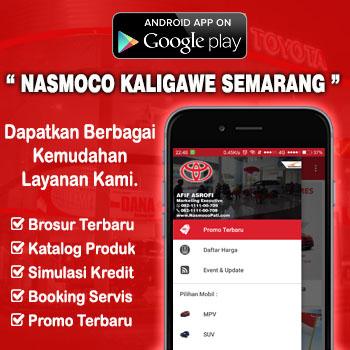 Aplikasi Android Dealer Mobil Toyota Nasmoco Kaligawe Semarang Kudus Purwodadi Salatiga Kendal Jepara Ungaran