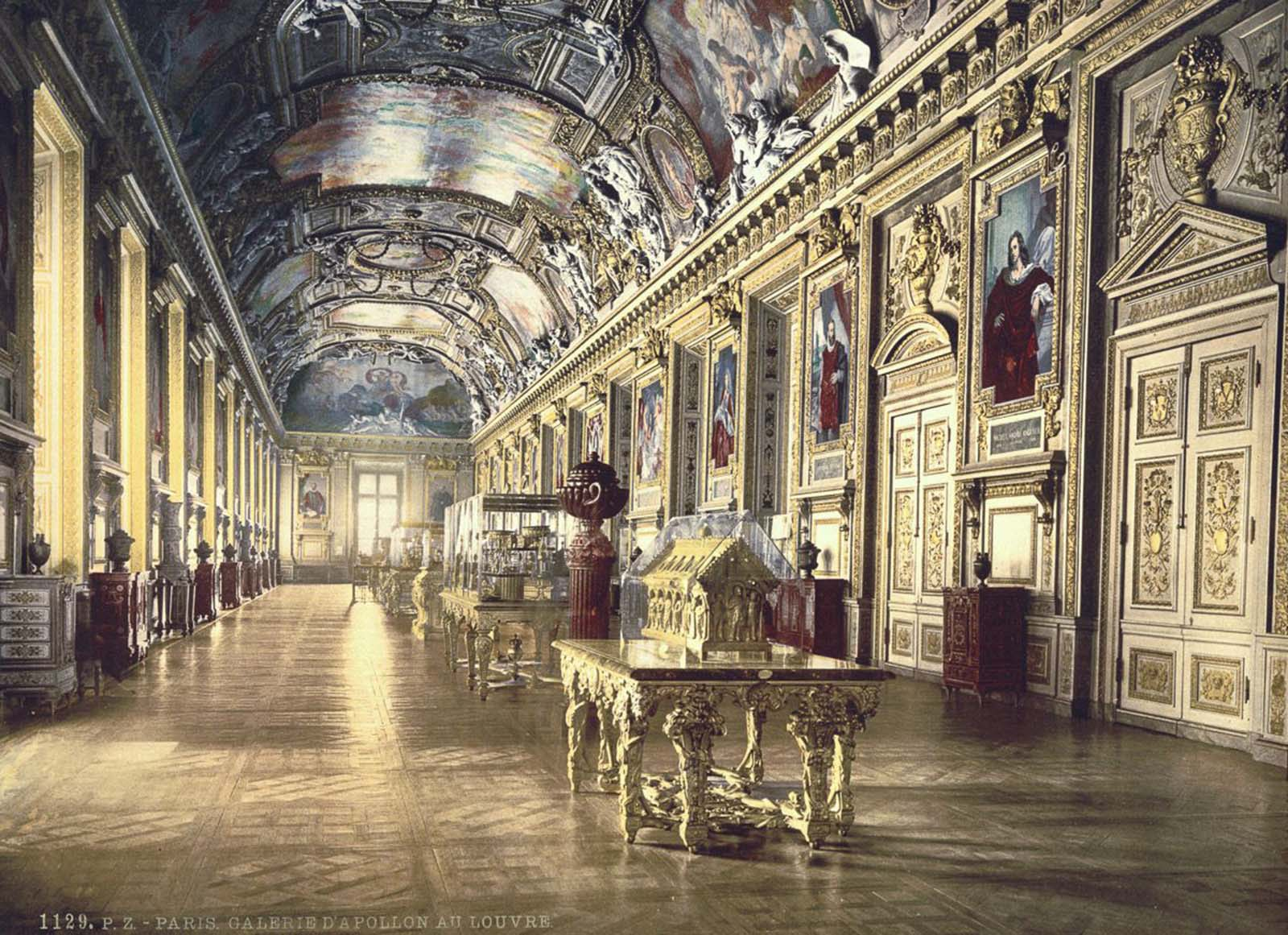 A gallery in the Louvre, Paris.